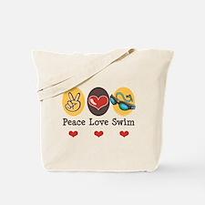 Peace Love Swim Swimmer Tote Bag