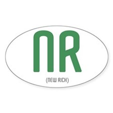 NR: New Rich Oval Decal