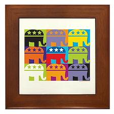 Elephant Diversity Framed Tile