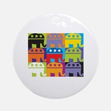Elephant Diversity Ornament (Round)