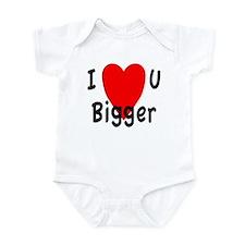I love you bigger Infant Bodysuit