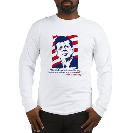 JFK Quotation Long Sleeve T-Shirt