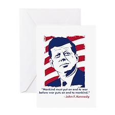JFK Quotation Greeting Card