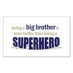 big brother t-shirt superhero Sticker (Rectangular