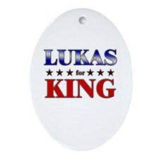 LUKAS for king Oval Ornament