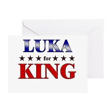 LUKA for king Greeting Card