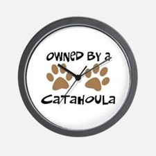 Owned By A Catahoula Wall Clock