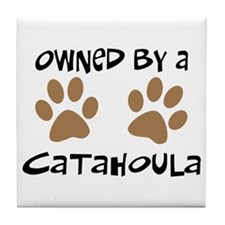 Owned By A Catahoula Tile Coaster