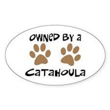 Owned By A Catahoula Oval Decal