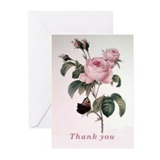 Beautiful Redoute Roses Thank You Cards