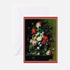 Antique Look Flower Bouquet Note Cards 10 pk