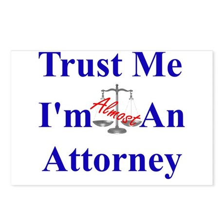 Trust Me ... Attorney Postcards (Package of 8)