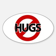 Hugs Not Allowed Oval Decal