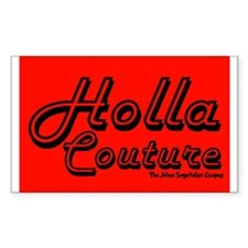 Holla Couture Rectangle Decal
