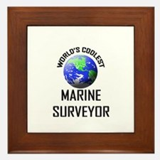World's Coolest MARINE SURVEYOR  Framed Tile