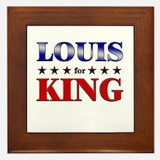 LOUIS for king Framed Tile