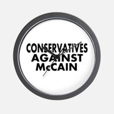 Anti-John McCain Wall Clock