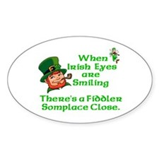 When Irish Eyes are Smiling Oval Decal