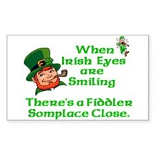 When Irish Eyes are Smiling Rectangle Decal