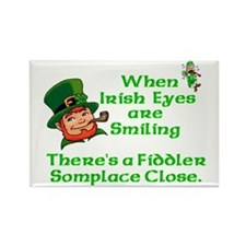 When Irish Eyes are Smiling Rectangle Magnet (10 p