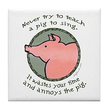 Singing Pig Tile Coaster