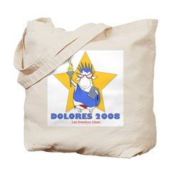 Dolores for President Knitting Tote