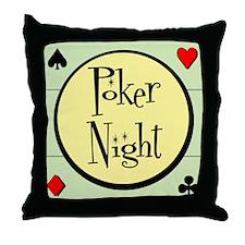 Retro Poker Throw Pillow