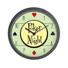 Retro Poker Wall Clock