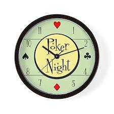 Retro Poker Wall Clock