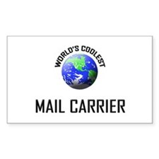World's Coolest MAIL CARRIER Rectangle Decal