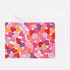 bright hearts valentine Greeting Card