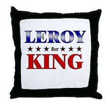 LEROY for king Throw Pillow