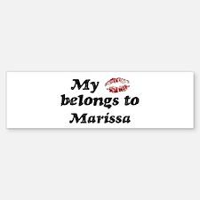 Kiss Belongs to Marissa Bumper Bumper Bumper Sticker