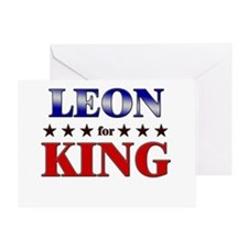 LEON for king Greeting Card