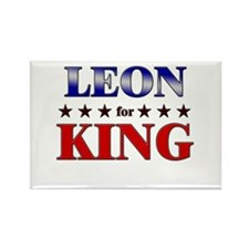 LEON for king Rectangle Magnet