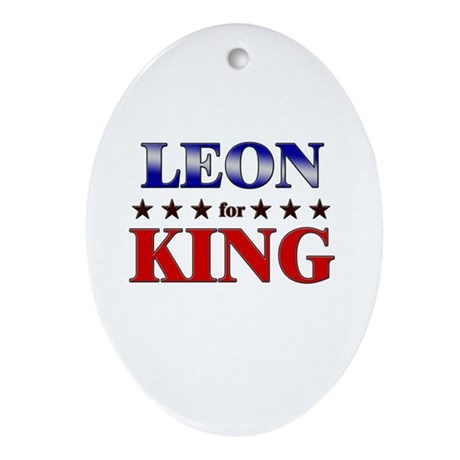 LEON for king Oval Ornament