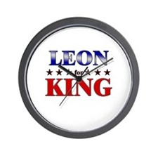 LEON for king Wall Clock