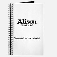 Alison - Version 1.0 Journal