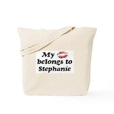 Kiss Belongs to Stephanie Tote Bag