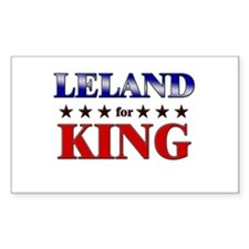 LELAND for king Rectangle Decal