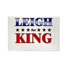 LEIGH for king Rectangle Magnet