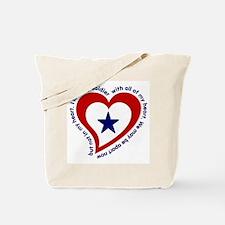 Army Soldier Service Flag Poem Tote Bag