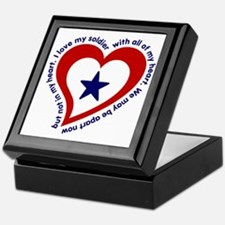 Army Soldier Service Flag Poem Keepsake Box