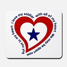 Army Soldier Service Flag Poem Mousepad