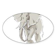 ELEPHANT (25) Oval Decal