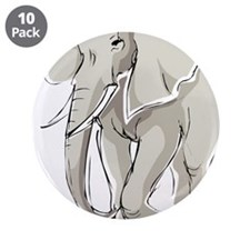"ELEPHANT (25) 3.5"" Button (10 pack)"