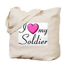 I love with heart my soldier Tote Bag