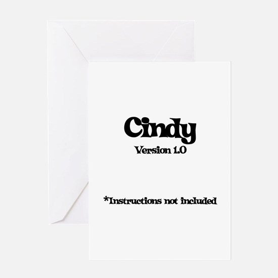 Cindy - Version 1.0 Greeting Card