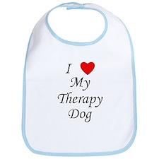 I Love My Therapy Dog Bib