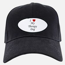 I Love My Therapy Dog Baseball Hat